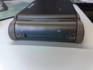 The Archos AV480 backside